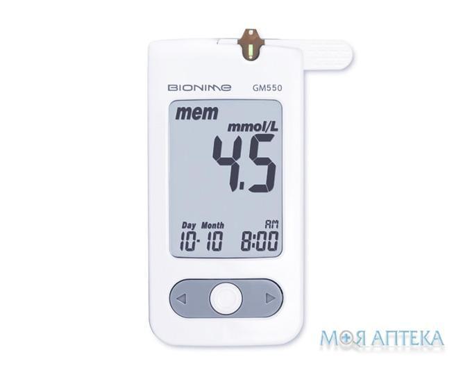 Глюкометр Bionime Rightest GM 550 53.0 +/- 5г / 90,6 x 46 x 16,5 мм